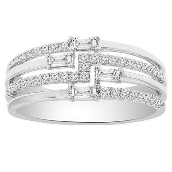 1/2ct tw Diamond Fashion Ring in 18K White Gold
