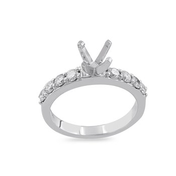 1/2ct tw Diamond Engagement Ring Setting in 19K White Gold