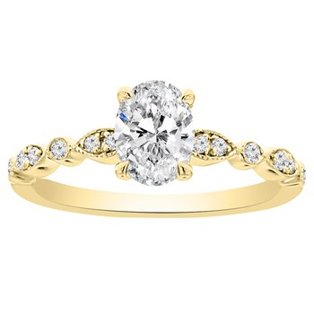 1/10ct tw NewBorn Lab Created Diamond Engagement Ring Setting in 14K Yellow Gold
