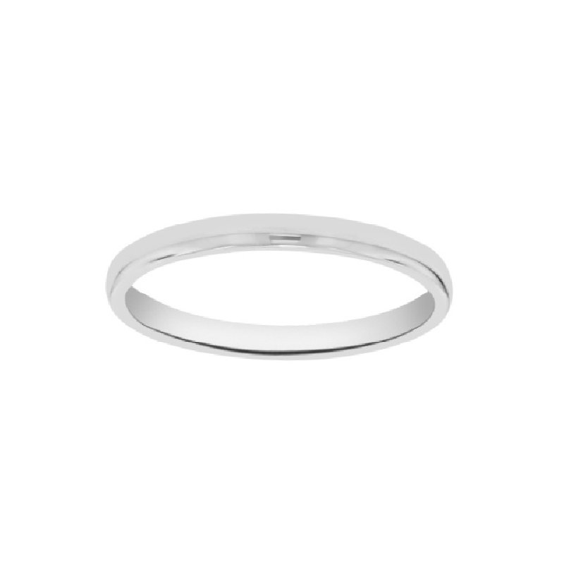 1.5mm Wedding Ring in 14K White Gold
