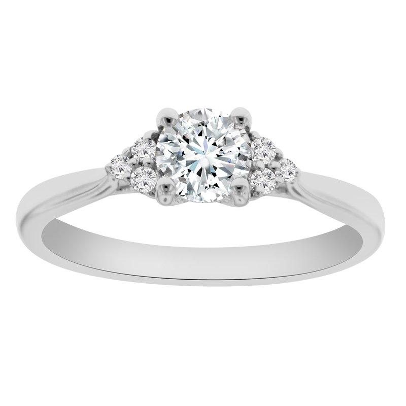 1/14ct tw NewBorn Lab Created Diamond Engagement Ring Setting in 14K White Gold