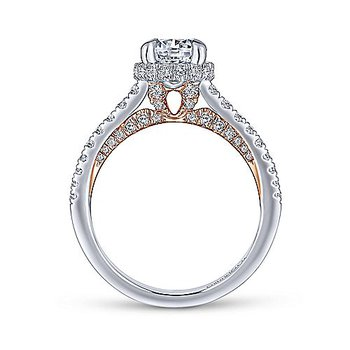 1 5/8ct tw Diamond Engagement Ring in 14K White & Rose Gold