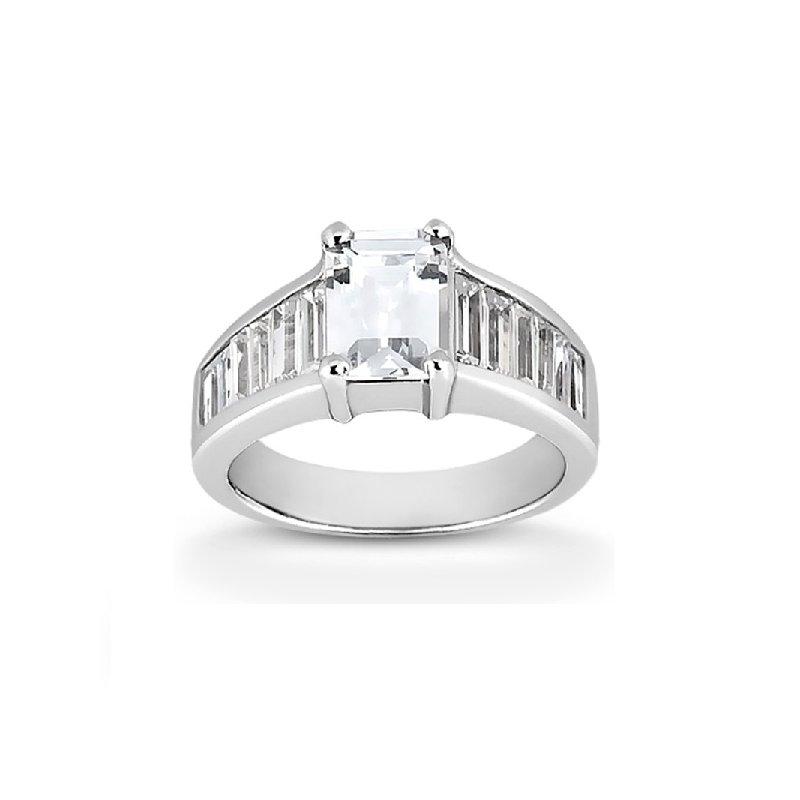 9/10ct tw Diamond Engagement Ring Setting in 14K White Gold