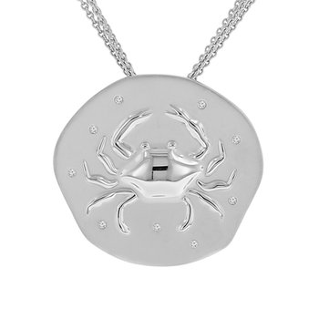 .05ct tw Diamond Nola Collection Crab Necklace in Sterling Silver