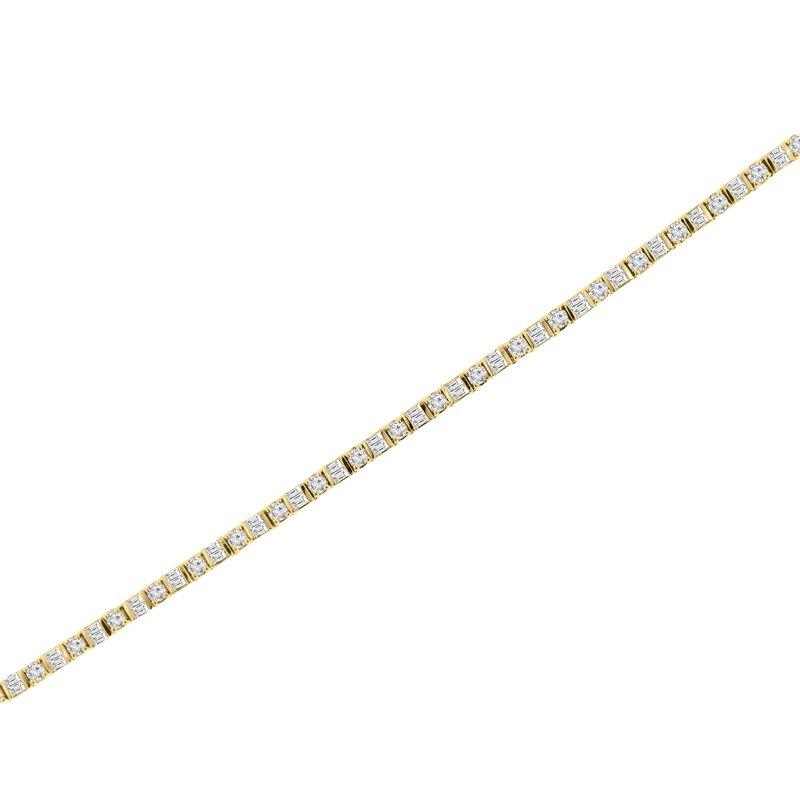 4ct tw Diamond Tennis Bracelet in 14K Yellow Gold