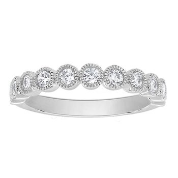 1/3ct tw Diamond Stackable Ring in 14K White Gold