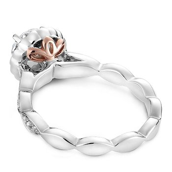 1 1/4ct tw Diamond Halo Engagement Ring in 14K White & Rose  Gold