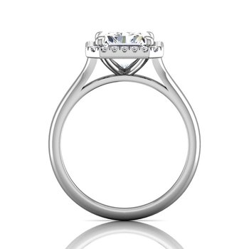 3 1/4ct tw Diamond Halo Engagement Ring in 14K White Gold