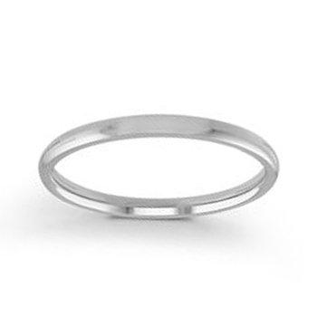 2mm Wedding Ring in 14K White Gold