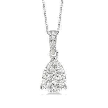 1/8ct tw Diamond Thousand Points of Light Necklace in 14K White Gold