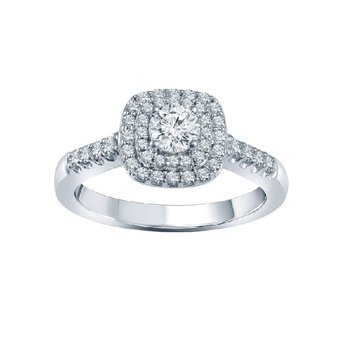 3/4ct tw Diamond WOW Engagement Ring in 14K White Gold