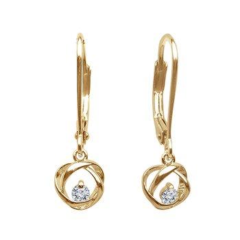 1/10ct tw Diamond Time & Eternity Earrings in 14K Yellow Gold