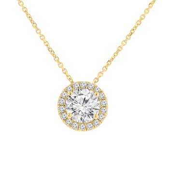 1 1/2ct tw NewBorn Lab Created Diamond Simply Love Collection Pendant in 14K Yellow Gold