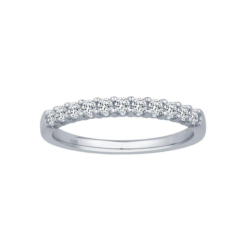 1/5ct tw Diamond Anniversary Ring in 14K White Gold