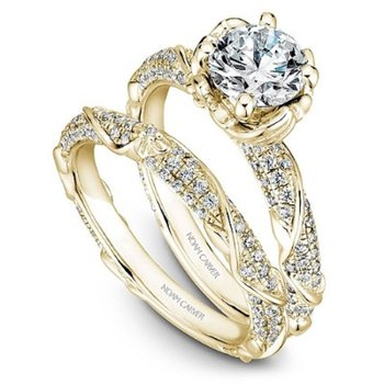 1/2ct tw Diamond Engagement Ring Setting in 14K Yellow Gold