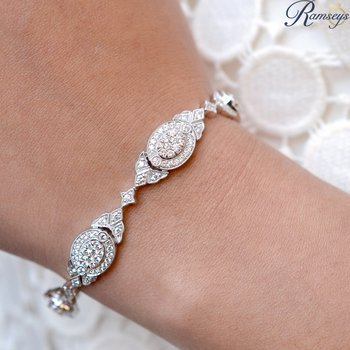 2 7/8ct tw Diamond Thousand Points of Light Bracelet in 18K White Gold