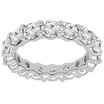 4ct tw NewBorn Lab Created Diamond Eternity Ring in 14K White Gold