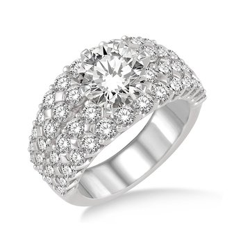 2 1/2ct tw Diamond Engagement Ring Setting in 18K White Gold