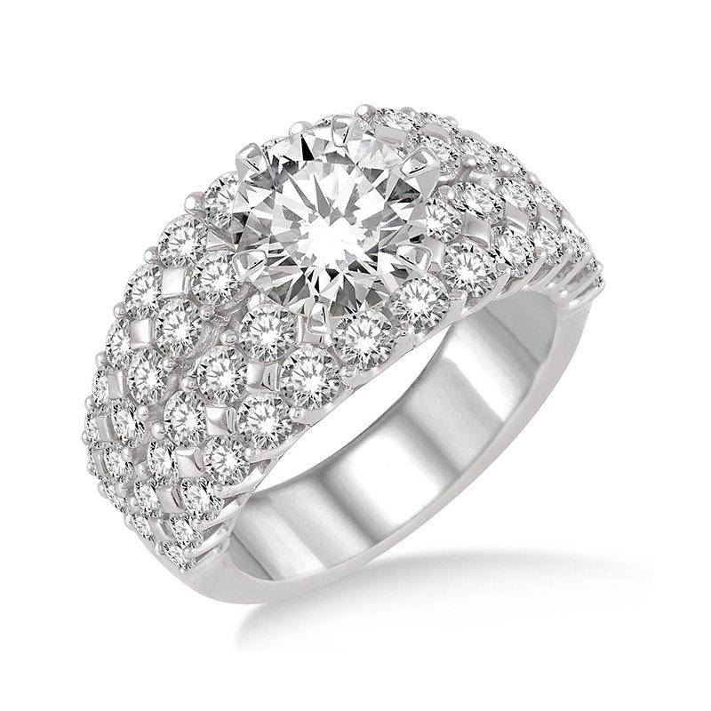 2 1/2ct tw Diamond Engagement Ring Setting in 18K White Gold