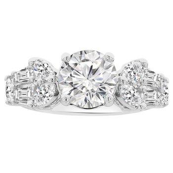 9/10ct tw NewBorn Lab Created Diamond Engagement Ring Setting in 14K White Gold