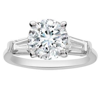 5/8ct tw NewBron Lab Created Diamond Engagement Ring Setting in 14K White Gold