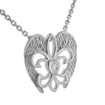 .02ct tw Diamond Rise Up Nola Necklace in Sterling Silver