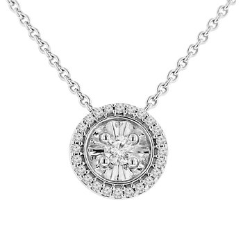 1/8ct tw Diamond Simply Love Collection Necklace in Sterling Silver