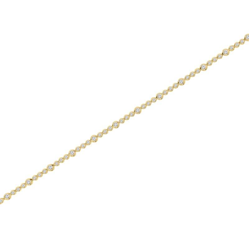 1 5/8ct tw NewBorn Lab Created Diamond Tennis Bracelet in 14K Yellow Gold
