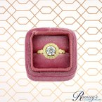 1/3ct tw Diamond Halo Engagement Ring Setting in 14K Yellow Gold