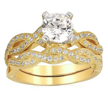 1/5ct tw Diamond Wedding Ring in 14K Yellow Gold