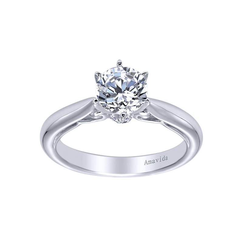 3/4ct tw Diamond Engagement Ring in 18K White Gold