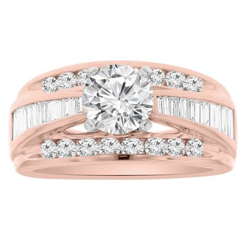 1 1/8ct tw Diamond Engagement Ring Setting in 14K Rose Gold
