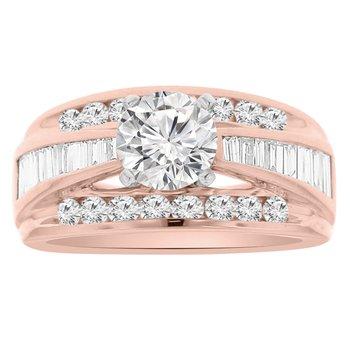 1 1/8ct tw Diamond Engagement Ring Setting in 14K Rose Gold