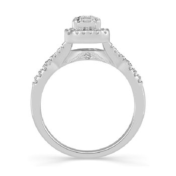 5/8ct tw Diamond Times Square Collection Engagement Ring in 14K White Gold