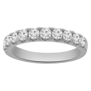 1ct tw Diamond Stackable Ring in 18K White Gold