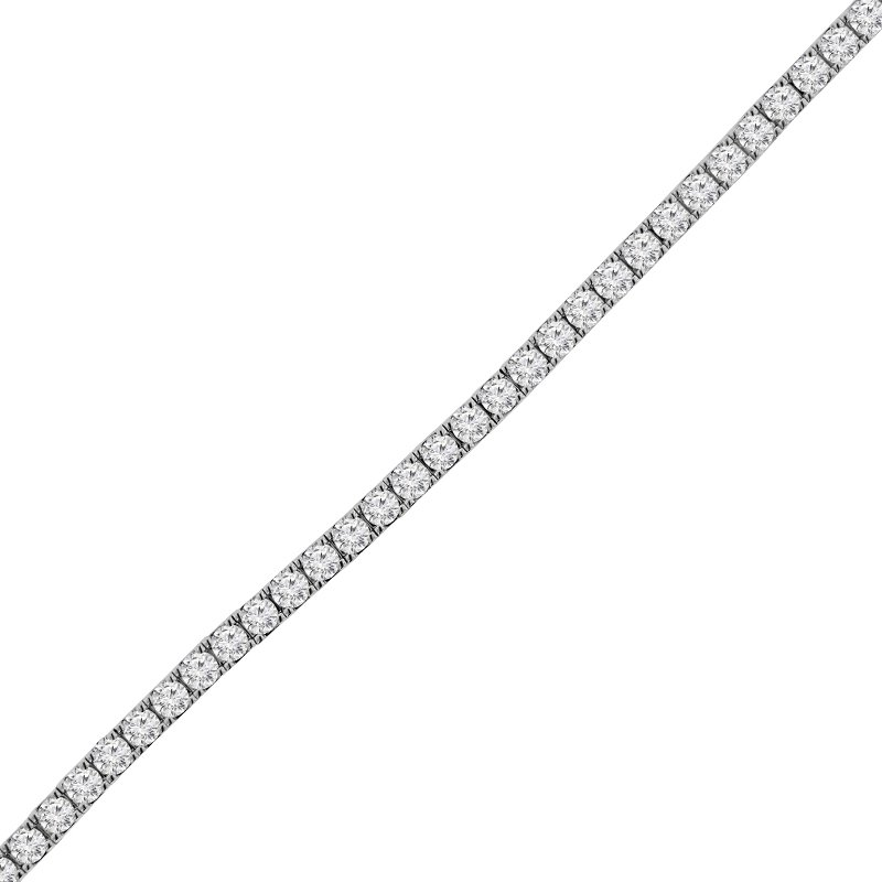 7 1/4ct tw NewBorn Lab Created Diamond Tennis Bracelet in 14K White Gold