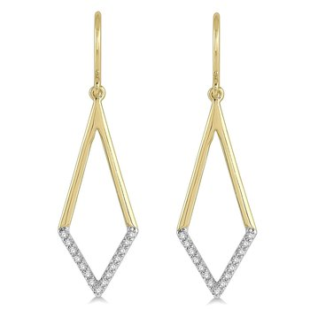 1/8ct tw Diamond Fashion Earrings in 10K Yellow Gold