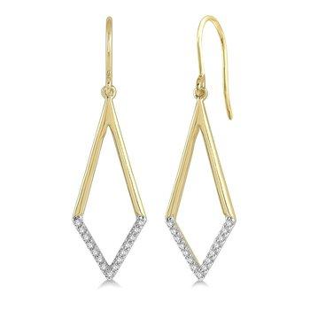 1/8ct tw Diamond Fashion Earrings in 10K Yellow Gold