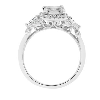1 7/8ct tw NewBorn Lab Created Diamond Halo Engagement Ring in 14K White Gold