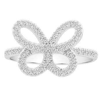 1/5ct tw Diamond Garden District Collection Butterfly Ring in 10K White Gold
