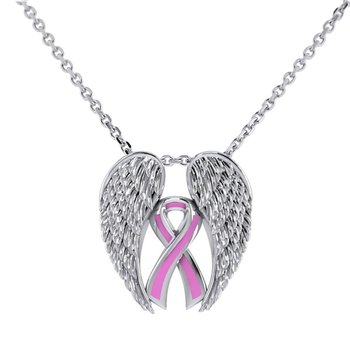 Pink Dat Necklace in Sterling Silver