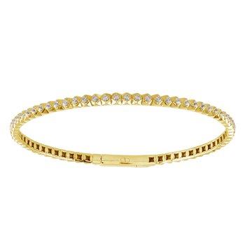 7/8ct tw Diamond Bangle Bracelet in 14K Yellow Gold