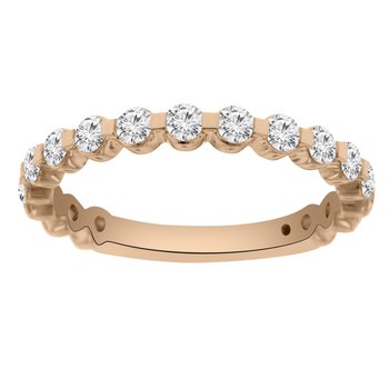 3/4ct tw Diamond Stackable Ring in 14K Rose Gold