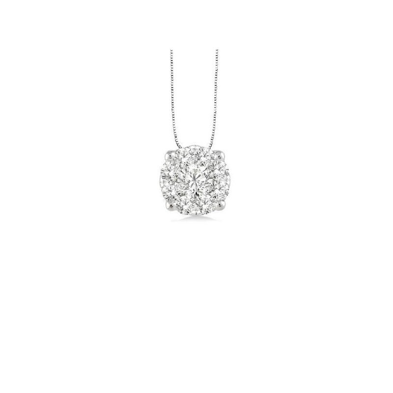 1/2ct tw NewBorn Lab Created Diamond Thousand Points of Light Necklace in Sterling Silver