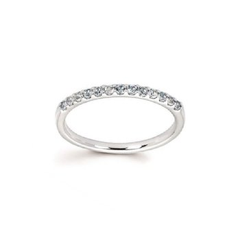 March Birthstone Ring in 14K White Gold