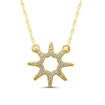 1/10ct tw Diamond Fashion Necklace in 10K Yellow Gold