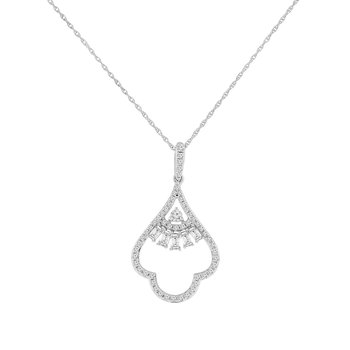 3/8ct tw Diamond Fashion Necklace in 14K White Gold