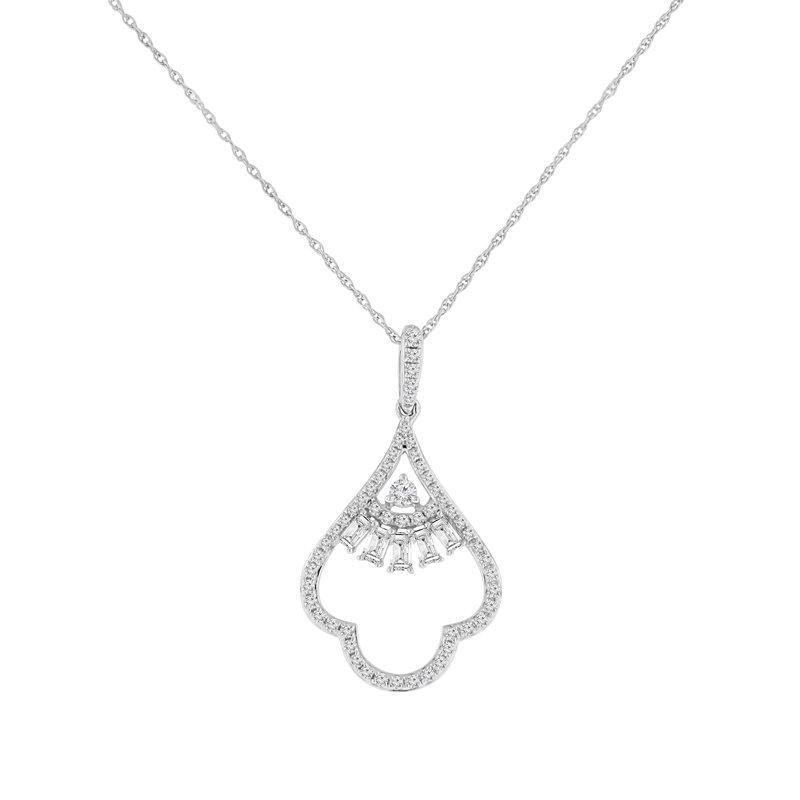 3/8ct tw Diamond Fashion Necklace in 14K White Gold