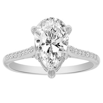 2 1/8ct tw Diamond Engagement Ring in 14K White Gold