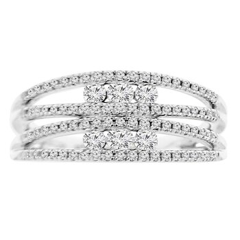 1/2ct tw Diamond Fashion Ring in 10K White Gold